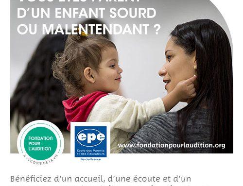 Le programme 2019 de l'École des Parents d'enfants sourds ou malentendants est en ligne !!